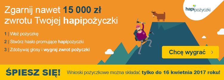 HapiPożyczki - konkurs z 3000 zł do wygrania - obrazek
