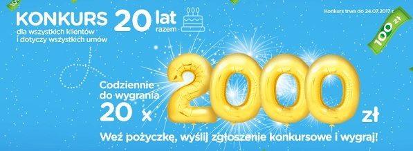 2000 złotych konkurs urodzinowy Provident