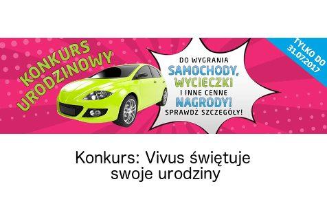 Konkurs urodzinowy Vivusa z nagrodami