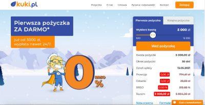 Podgląd strony www Kuki.pl