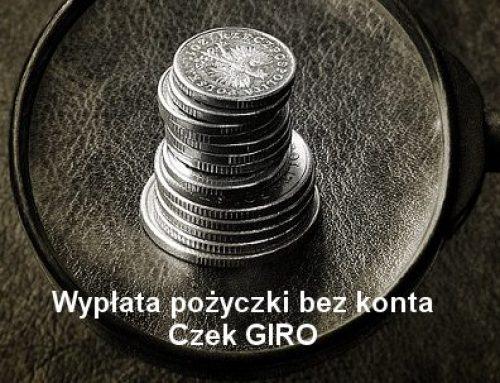 Czek Giro: sposób na pożyczkę bez konta w banku
