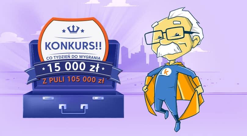Informacje o konkursie z 15000 zł co tydzień do wygrania