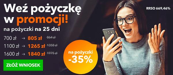 35% zniżki dla dotychczasowych klientów Credit.pl