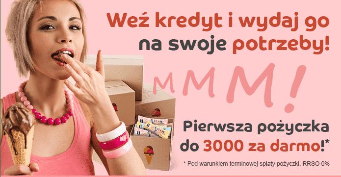 Wyższa kwota pierwszej pożyczki w Credit.pl