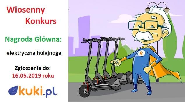 Konkurs z hulajnogą Xiaomi do wygrania w Kuki.pl