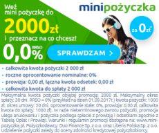 Minipożyczka - do 2000 zł pierwszej pożyczki