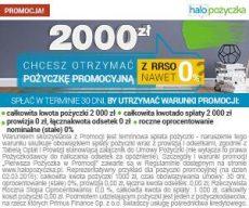 Halopożyczka - chwilówki 2000 zł za 0% RRSO