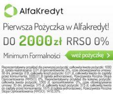 Alfakredyt - 2000 złotych bez odsetek