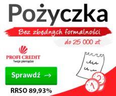 Profi Credit - na raty do 25000 zł