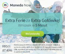 Monedo - oferta Extragotówki - banner - ferie zimowe