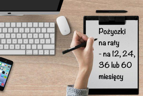 Pożyczki na raty - długopis i komputer, myszka - wniosek online