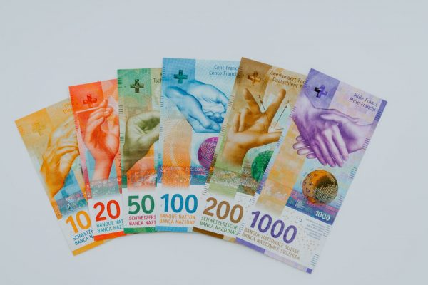 banknoty franka szwajcarskiego