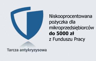5000 zł pożyczka dla mikroprzedsiębiorcy - tarcza antykryzysowa