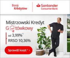 Santander - kredyt gotówkowy banner