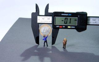 Stopy procentowe - suwmiarka i ustalanie wartości