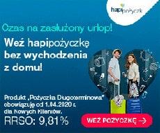 HapiPożyczki - banner 9,81% do 24 miesięcy