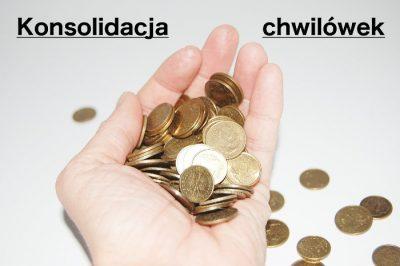 Dłoń z groszami - konsolidacja chwilówek