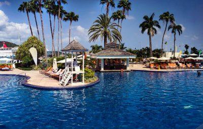 pożyczka wakacyjna - basen hotel i palmy