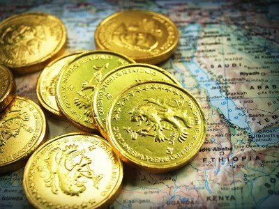 Złote monety - inwestycja w metale szlachetne - Au