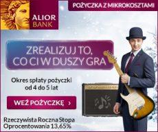 Alior - pożyczka z mikrokosztami - banner 300x250