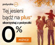 Pożyczkaplus.pl - chwilówka z Rzeczywistą Roczną Stopą Oprocentowania 0% - banner jesień