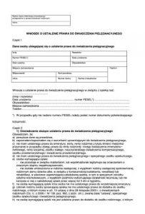 Wniosek o ustalenie świadczenia pielęgnacyjnego w PDF
