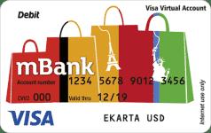 Karta wirtualna mBanku w dolarach