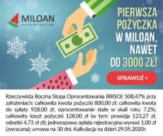Miloan - oferta chwilówek - banner świąteczny