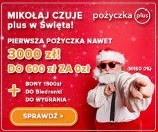 Pożyczkaplus.pl - chwilówka z Rzeczywistą Roczną Stopą Oprocentowania 0% - banner święta
