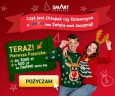 Smartpozyczkapl - darmowa chwilówka do 600 zł - banner Boże Narodzenie