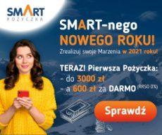 Smartpozyczkapl - darmowa chwilówka do 600 zł - banner Nowy Rok