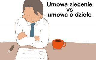 Umowa zlecenie a umowa o dzieło - pracownik z kawą