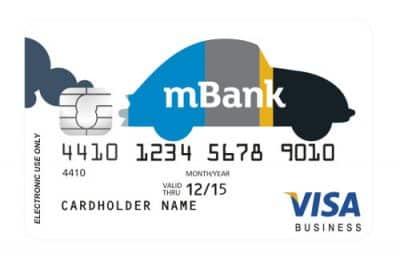 Awers karty przedpłaconej mBanku - Visa Business Prepaid