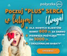 Pożyczkaplus.pl - chwilówka z Rzeczywistą Roczną Stopą Oprocentowania 0% - banner walentynki