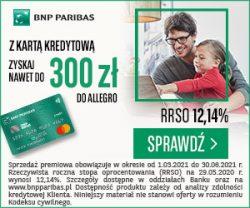 BNP Paribas karta kredytowa banner - promocja Allegro