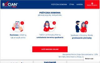Bocian Pożyczki - strona www pożyczkodawcy - miniatura