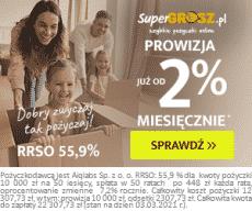 Supergrosz - baner ofertowy - prowizja od 2%