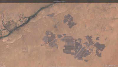 Bhadla Solar Park - widok z kosmosu