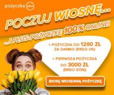 Pożyczkaplus.pl - chwilówka z Rzeczywistą Roczną Stopą Oprocentowania 0% - banner Wiosna 2021