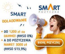 Smartpozyczkapl - darmowa chwilówka do 1200 zł - banner wiosenny