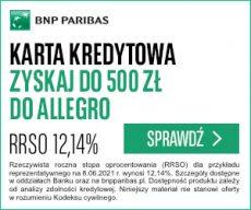 bnp paribas - karta kredytowa - 300x250 banner -  bony allegro 500zł