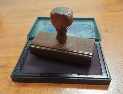 Pieczęć notariusza - darowizna
