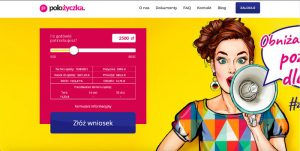 Polożyczka.pl - podgląd strony www pożyczkodawcy