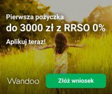Wandoo - pożyczka darmowa za pierwszym razem