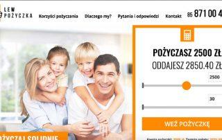 Podgląd strony www.lewpozyczka.pl