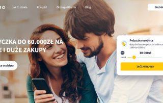 Finzmo - zrzut ekranu - strona pożyczkodawcy