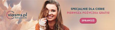 ViaSMS - 750x200 banner - pierwsza pożyczka gratis